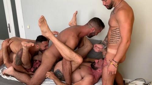 Viktor Rom, Lex Anders, Joe Gillis, Joe Casio and Andrea Suarez - Pride Group Fuck [Bareback]
