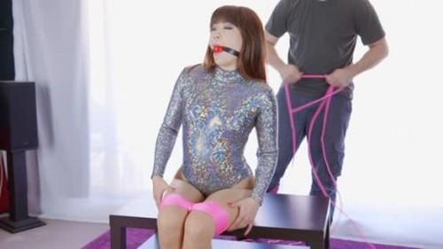 Mina - Sparkly Bodysuit Hogtie Fail Hogtie - BDSM, Pain, Bondage, Sadism