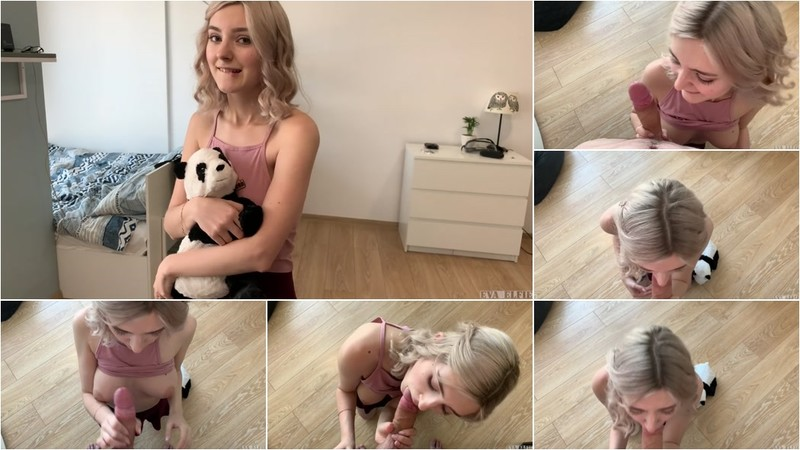 Eva Elfie - Virgin Step Sister Learns a Blowjob on her Brother's Dick [FullHD 1080P]