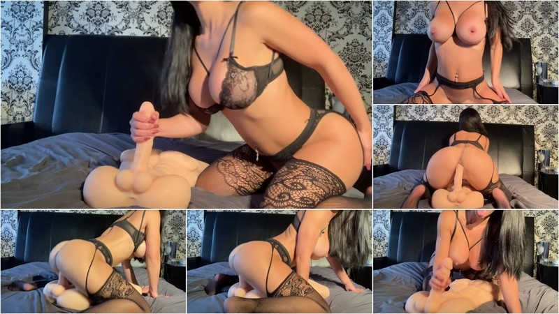 Misslexa - Fitness Model Talking Dirty And Fucking Her Huge Man Doll [FullHD 1080P]