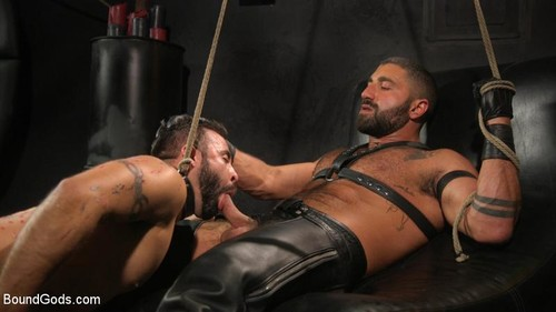 Franco gets FUCKED! New slave flogged and fucked by Sharok