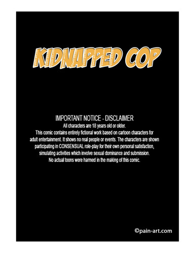 pain-art - Kidnapped Cop 3D Adult Comics