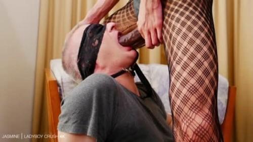 Jasmine - Creampie Fucking Kept On Leash - Ladyboy, TGirls Porn, Girl with dick