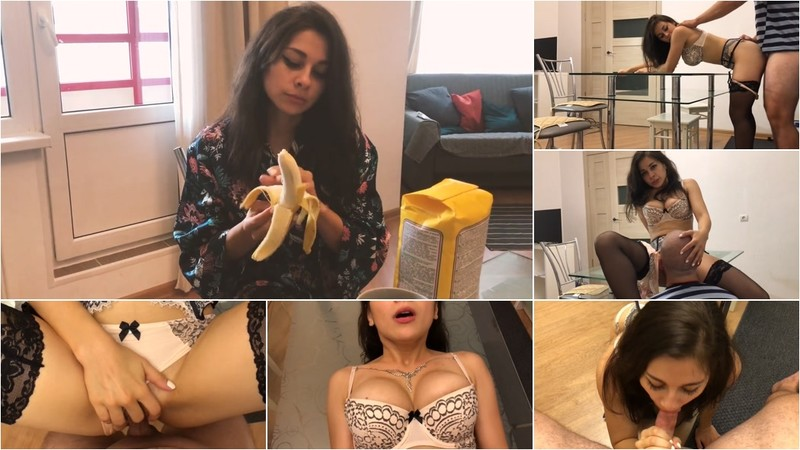 Lolly Lips - Neighbor Lolly Lips Came To Have Sex In The Kitchen. Watch Until The Finish [FullHD 1080P]