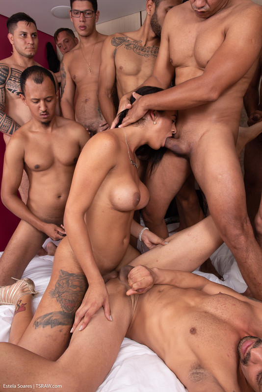 Estela Soares Takes 11 Cumshots (5 December 2019)
