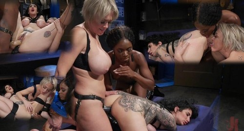 Kinky Workshop Ana Foxxx And Dee Williams Strap-On Dp Arabelle Raphael [SD]