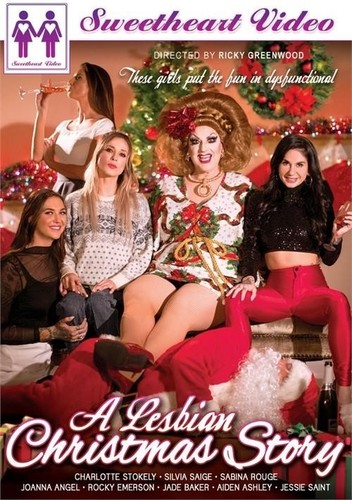 Silvia Saige , Joanna Angel , Charlotte Stokely , Jade Baker , Aiden Ashley , Sabina Rouge , Rocky Emerson , Jessie Saint , Jackie Beat - A Lesbian Christmas Story [HD/720p]