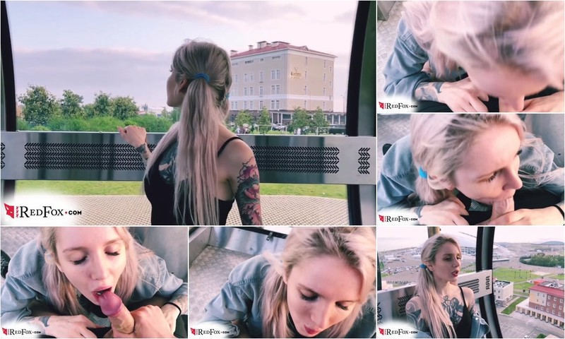 RedFox XXX - Teen Blowjob Cock Stranger And Jerk Off In A Public Place [FullHD 1080P]
