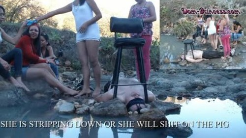 All Natural Trees Rivers and Shit Eating Pigs - Part 1 Diana - Femdom Scat, Humiliation Scat, Copro Video