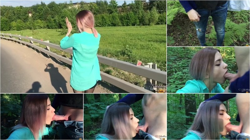 Sobestshow, Freya Stein - Public Throat Blowjob in the Forest from a Cute Teen [HD 90.6 MB]