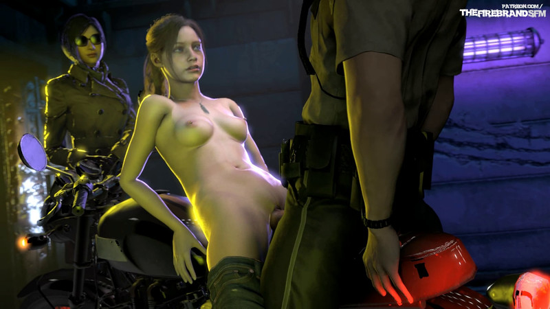 Claire and Ada Wong Bike Sex - the Firebrand- Resident Evil Hentai 1