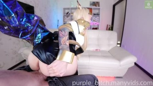 1st Horse Dildo Testing by Ahri And Real Webcam Purple bitch