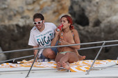 Rita Ora Goes Topless on a Boat While Vacationing