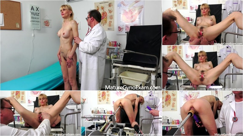 Valeria Blond - Gyno exam of slender mature woman Valeria [FullHD 1080P]