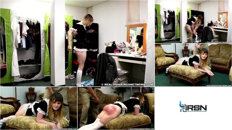 Maid Mable - Maid Mable is Spanked by her Boss [HD 720p]
