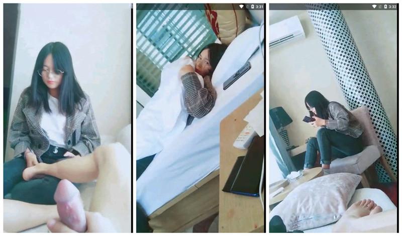 在酒店约操四川清纯眼镜学生妹,刚开始还害羞直接按在窗上扒光,
