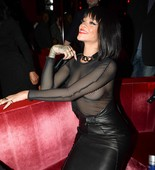 Rihanna Wears Completely See Through Top at Paris Fashion Show