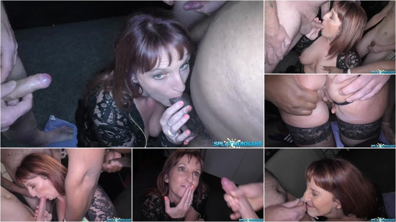 Beau Diamonds - Sexy MILF Beau enjoys her first bukkake [HD 720P]