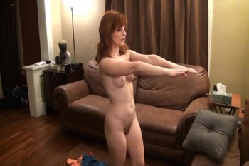 Erotic scenes with a red-haired Rebecca